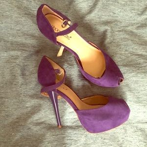 Shoe Dazzle Purple Shoes 7.5